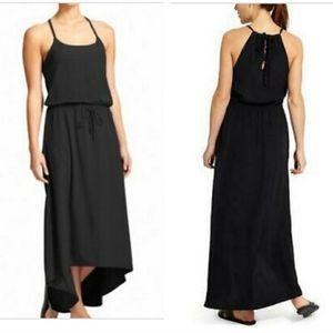 Athleta Black Malti Asymmetrical Maxi Dress